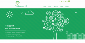 Chalkwood IT Website | Website design services by The Salty Gecko